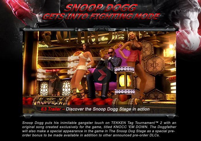 Tekken Tag Tournament 2 - E3 Trailer - Discover the Snoop Sogg Stage in action